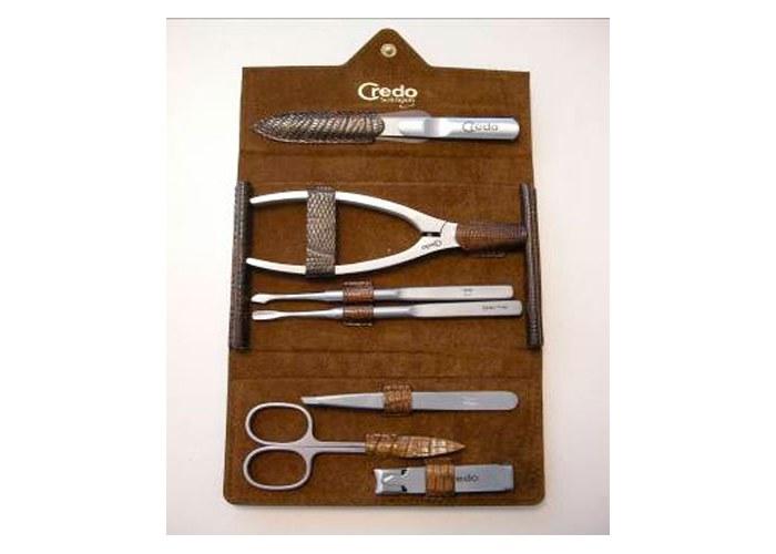 """Наборы инструментов для маникюра и педикюра : набор для маникюра и педикюра из 7 предметов """"ящерица"""" credo - купить в."""
